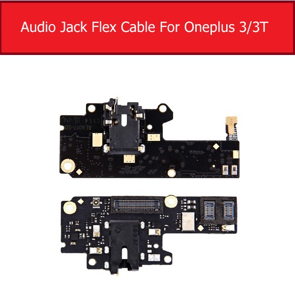 Audio-Jack-Board Ribbon-Cable Headphone-Port Repair-Parts Oneplus-1 Flex Tested A3000 title=
