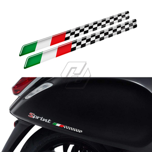 3D Motorcycle Tank Decal Italy Stickers Case for Aprilia Ducati Monster Decals for Piaggio Vespa(China)