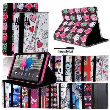 Drop resistance Foldable Folio Leather Stand Cover Case For Tesco Hudl 2 8.3