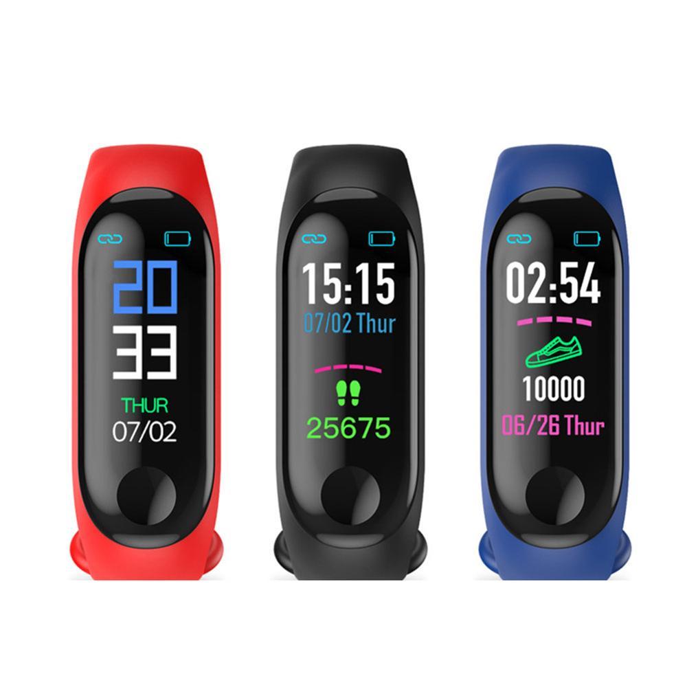 M3 SmartWatch Bracelet intelligent tension artérielle moniteur de fréquence cardiaque étanche Bracelet intelligent M3 bracelets Smartband