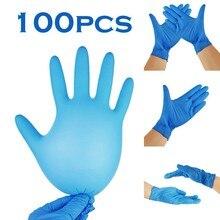 Latex Gloves Rubber Disposable Kitchen-Work Blue 100pc Dishwashing Handschoenen Outdoor