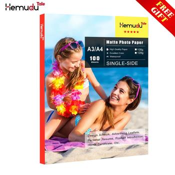 цена на A3/A4 Matte Photo-Paper 100sheets Waterproof for Inkjet Printer Paper Imaging Supplies Printing