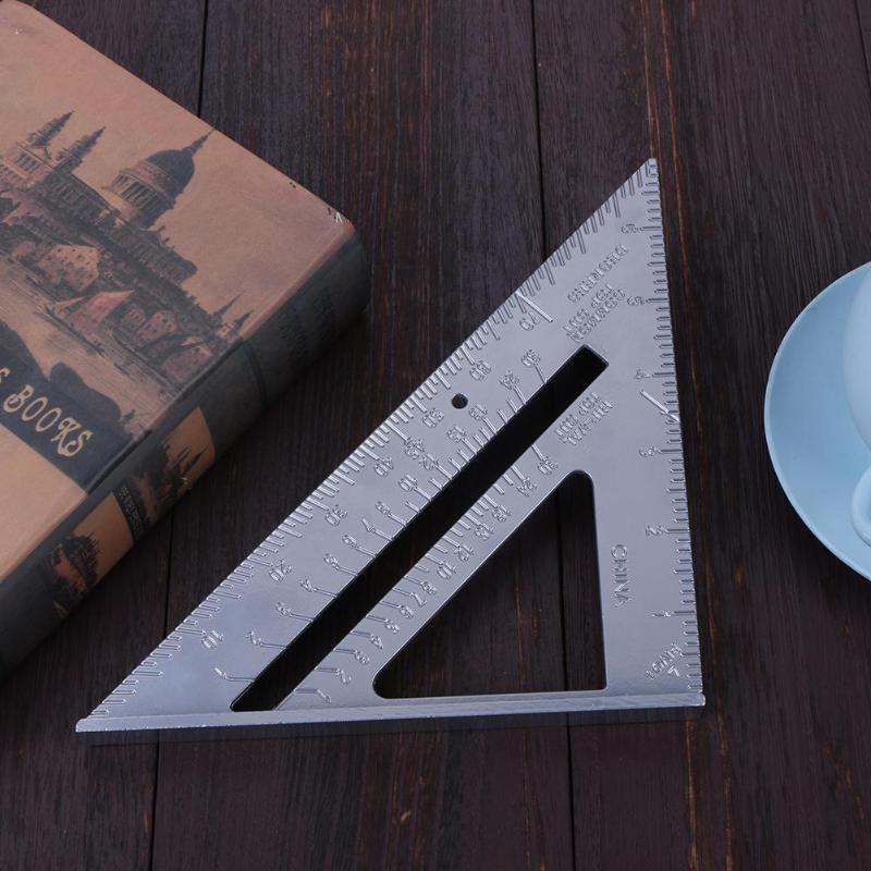 7inch Speed Square Metric Aluminum Triangle Ruler Squares for Measuring Tool Metric Triangle Angle Protractor Woodworking Tools Pakistan
