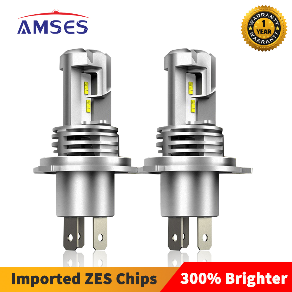 AMSES H4 H7 светодиодный лампы для передних фар H1 H11 H8 H3 9005 HB3 9006 HB4 6000K 12000LM зэс авто светодиодный фары головного света, противотуманные фары, лампы ...