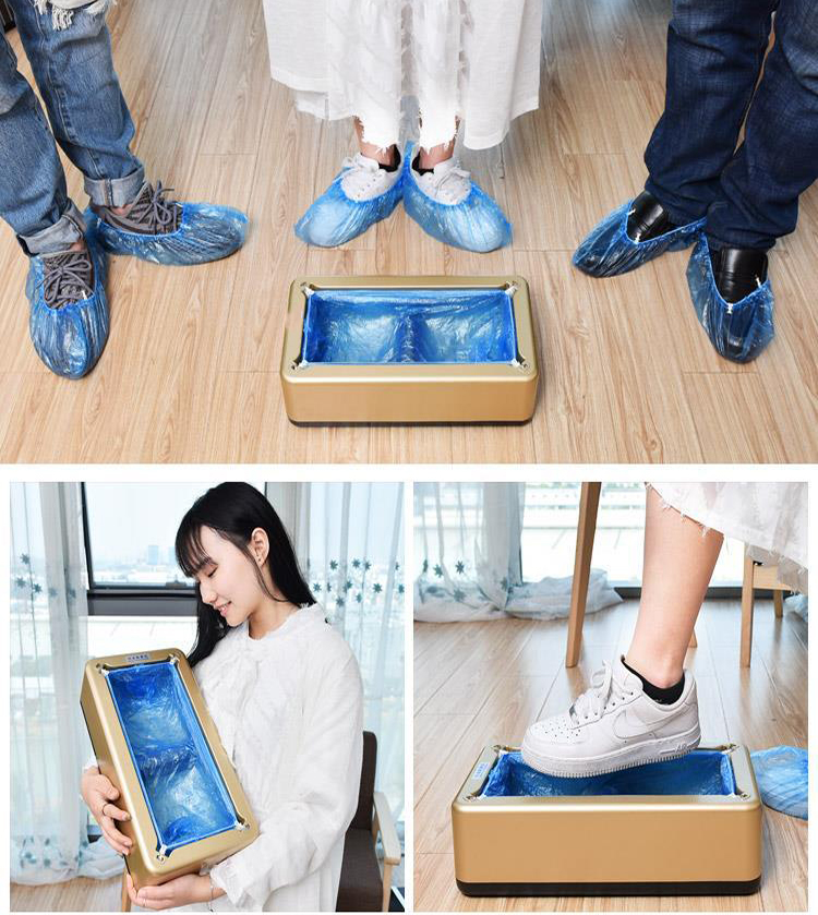 New Version Automatic Shoe Cover Dispenser Automatic Shoe Covers Machine Home Office One-time Film Machine Foot Set New Shoes