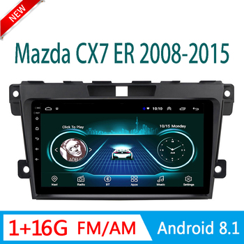 auto radio For mazda CX7 CX 7 ER 2008-2015 multimedia system auto audio GPS navigation FM am USB 1 din Android mirror link image