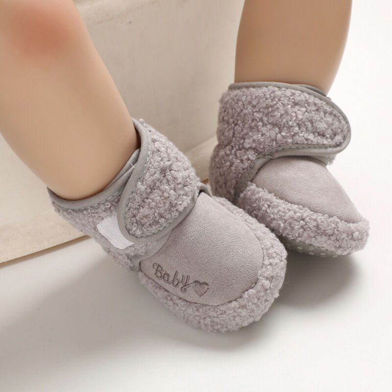 For Baby Girls Winter Warm Boots Soft Fleece Sole Shoes 0-18M
