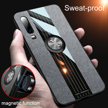 For Huawei P30 lite Case Armor fabric Cover Metal Finger Ring Holder Phone Case For Huawei p20 P 30 Lite P30 Pro Cover Bumper цены