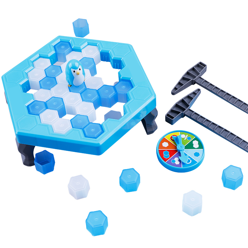 Penguin Trap Ice breaker Kids Puzzle Table Knock Game Save Penguin on Ice Block