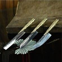 Набор кухонных ножей ручной работы острый китайский мясницкий