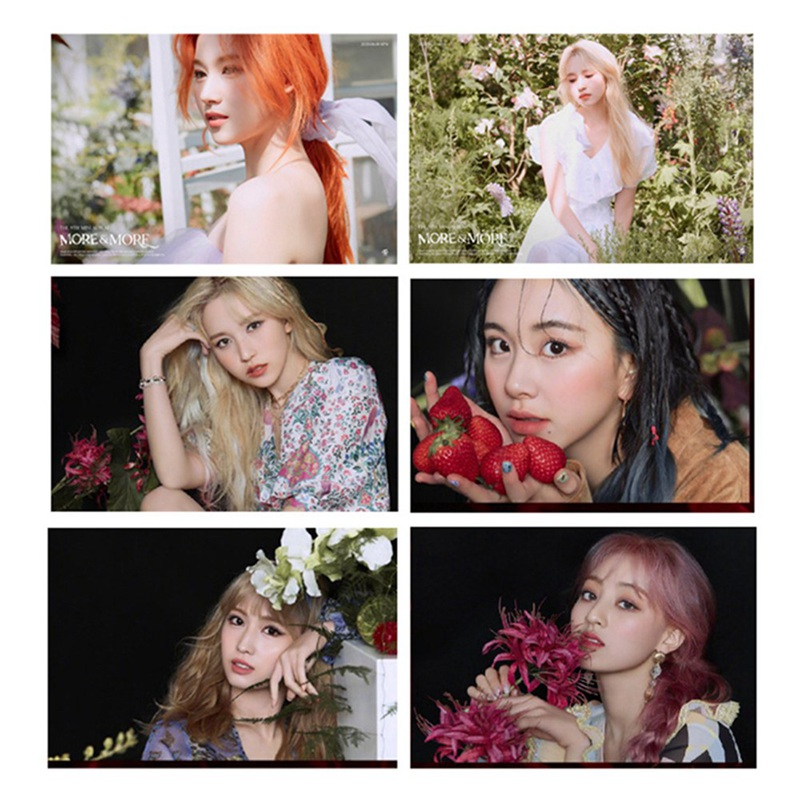 20 Stks/set Kpop Tweemaal Photocard Kristal Sticker Meer & Meer Album Photocard Kpop Tweemaal 2020 Momo Sana Mina Telefoon Decal
