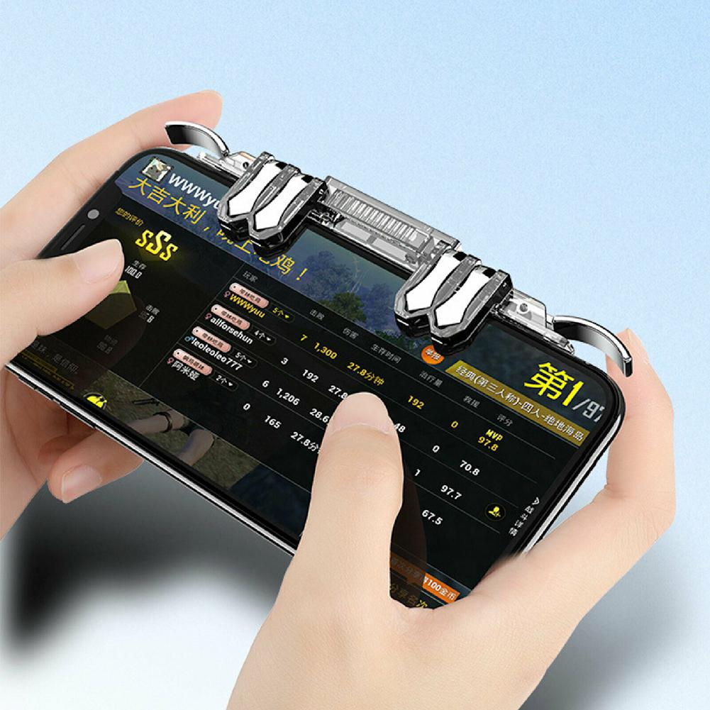 BEESCLOVER Mobile Gaming 6 Finger Controlle 6 Finger Controller Trigger Game Fire Button Handle Gamepad For PUBG IOS Android R60