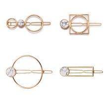 Горячая Распродажа женские элегантные Геометрические заколки