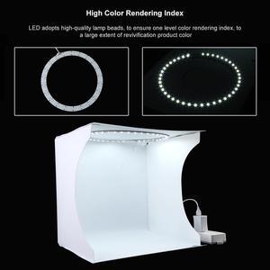 Image 4 - PULUZ 30*30cm Lightbox מיני מתקפל צילום סטודיו תיבת צילום LED 30cm Lightbox סטודיו ירי אוהל ערכת & 6 צבע תפאורות