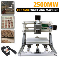 CNC 1610 2500mw Laser Engraving Machine DIY CNC 3 Axis Bakelite Milling machine PCB Milling Wood Router