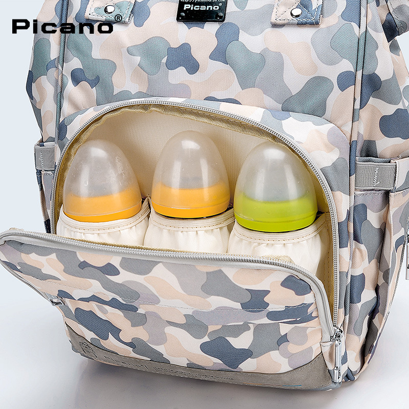 Pcaro Case Backpack Diaper Bag Backpack Women's Fashion School Bag Treasure Mommy Bag MOTHER'S Bag Nursing Light