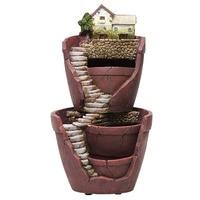 Resin Flower Pot Succulent Plants Pots Pastoral Garden Bonsai Planter Micro Landscape Flowerpot Garden Home Decoration