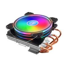 V500 RGB ventilador de refrigeración de la CPU 120mm 5 cobre Heatpipes silencio bajo radiador de perfil disipador de calor enfriador para Intel 2011, 1366, 1156, 1155 AMD
