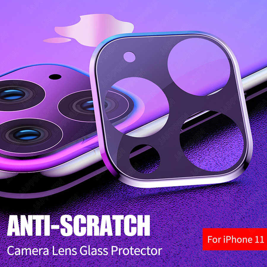 Camera Lens Full Cover Beschermende Metalen Ring + Gehard Glas Voor iPhone 11 Pro XS Max XR X Back Camera lens Protector Case