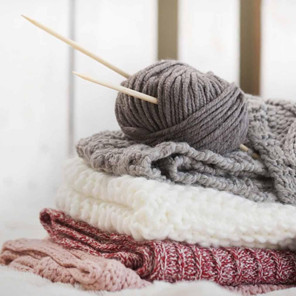 4 parts peigné lait coton fil confortable laine mélangée fil vêtements couture fil à tricoter à la main écharpe chapeau fil