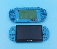 1 مجموعة الأصلي ل ps فيتا ل psvita psv 2000 شاشة الكريستال السائل الشاشة مع الإطار الخلفي الإسكان غطاء أسود/أبيض/برتقالي/أزرق