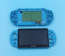1set original for ps vita for psvita psv 2000 lcd display screen with frame + back housing cover black/white/orange/blue