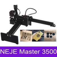 NEJE Mestre 3500mw Alta Velocidade de mini CNC Máquina de Gravura Do Gravador Do Laser para Metal/Madeira Router/Cortador De Papel /área de trabalho do Cortador