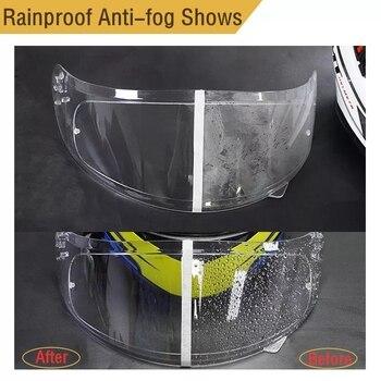Helmet Clear Anti-Fog Rainproof Patch Film Universal Lens Helmet Motorcycle Visor Fog Resistant For Moto Motocross Accessories