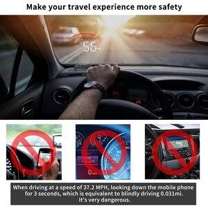 Image 2 - Obd2 display para carros com gps, display de cabeça para cima, m11, gps, hud, velocímetro digital, sobrevelocidade, projeção de velocidade, alarme de segurança, pk m7