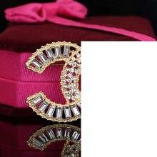 Broches rétro en cristal et strass pour femmes, grande broche en perles