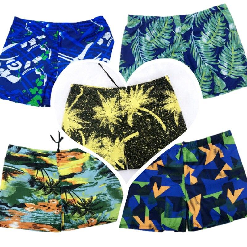 New Style MEN'S Swimming Trunks Hot Springs Boxer Beach Swimming Trunks Men Swimsuit Seaside Four Corners Swimming Trunks