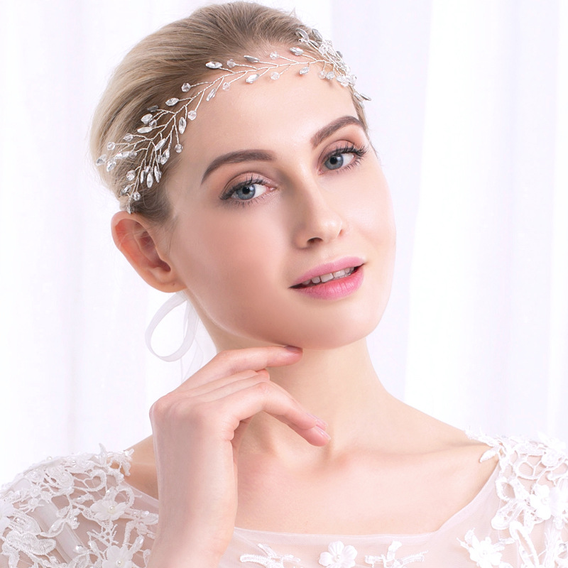 Wedding Headdress Bride Jewelry Handmade Top Wedding Hair Accessories Crown Floral Crystal Pearl Hair Ornaments TS40