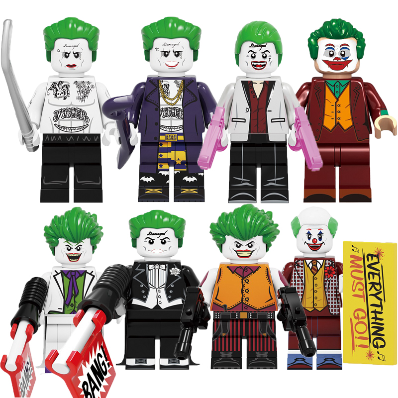 Building Blocks Legoed Joker Figure Prisoner Suicide  Batman Super Hero Action Figures Bricks Education Toys Children Kid KF6110