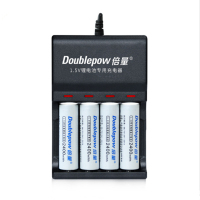 4PCS high power 2400mWh 1.5v AA rechargeable lithium battery microphone camera lithium battery +4 slot USB smart charger