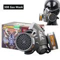 308 Industrial Dust Mask Gas Mask Suitable For Industrial Spray Paint Pesticide Spraying Chemical Smoke Protective Respirator