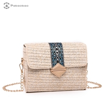 Pabaobao Beach Straw Woven Shoulder Bag for women 2019 Messenger Crossbody Handbag sac a main femme Dropship bolsa