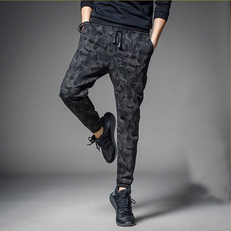 2018 Summer Men's Hot Selling Casual Pants Men's Skinny Autumn And Winter Plus Velvet Sweatpants Camouflage Sports Harem Pants M
