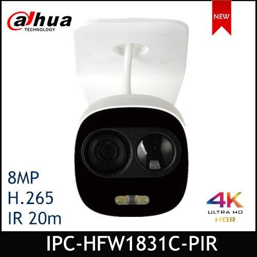 Dahua IP Camera IPC-HFW1831C-PIR 8MP WDR IR Mini Bullet Network Camera Support POE