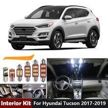 12 Uds blanco Canbus bombillas Led para Hyundai Tucson 2017, 2018, 2019, 2020 juego de luz Interior Led licencia de cúpula de placa mapa lámpara