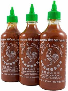 Huy Fong Sriracha Hot Chili Sauce Bottle, 17 Ounce (Pack Of 2)