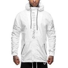 Waterproof Coat Hood-Jacket Zip-Pocket Springandautumn Outdoor Fashion Training Sports