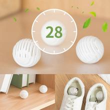 6pcs Shoe Deodorant Dryer Balls Moisture Absorber Anti-milde Shoes Deodorant 1 pair shoe deodorant cute pill shape shoe dryer deodorant antimicrobial carbon moisture absorber closet drawers shoe deodorizer