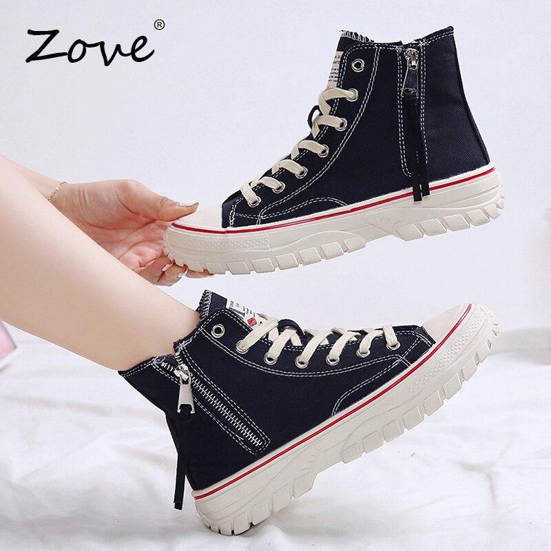 ZOVE Women Boots Shoes Autumn High Top