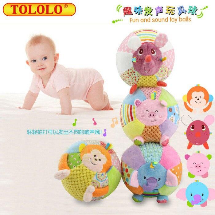 C292. Tololo Shoot Zhen Qiu: Cartoon Animal Multi-functional Fun Fa Sheng Qiu Baby Grasping Ball