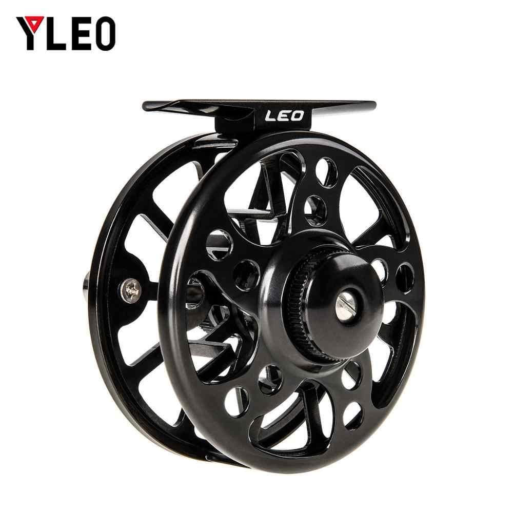YLEO Vliegen Ijsvissen Reel 3/4 5/6 7/8 Vliegvissen Reel CNC Machine Gesneden Grote Prieel Spuitgieten Aluminium Fly reel