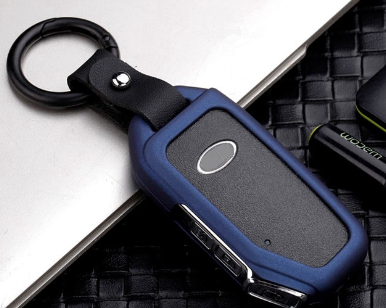 Car Galvanzed Alloy Key Cover Shell Pocket For KIA Sportage Ceed Sorento Cerato Forte 2018 2019 Smart FOB Key Case Accessories
