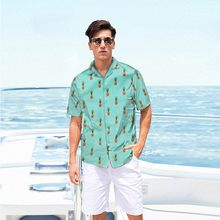 Hawaiian Beach Short Sleeve Shirt Men 2019 Summer Fashion Palm Tree Print Tropical Aloha Shirts Mens Party Holiday Chemise#h4(China)
