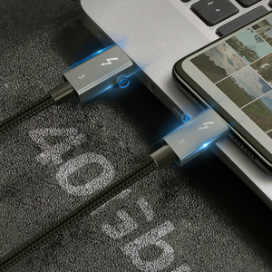 Image 3 - CABLETIME Thunderbolt 3 kabel USB typu C certyfikat PD 100W kabel 40 gb/s 5A/20V Super ładowania dla Dell XPS Razer Macbook Air N320