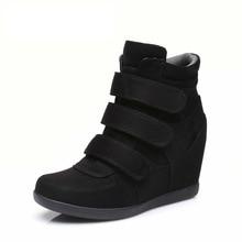 2019 Nieuwe Mode Retro Verhogen Binnen Vrouwelijke Laarzen En Najaar Hot Koop Koreaanse Versie Van High Top Casual vrouwen Schoenen