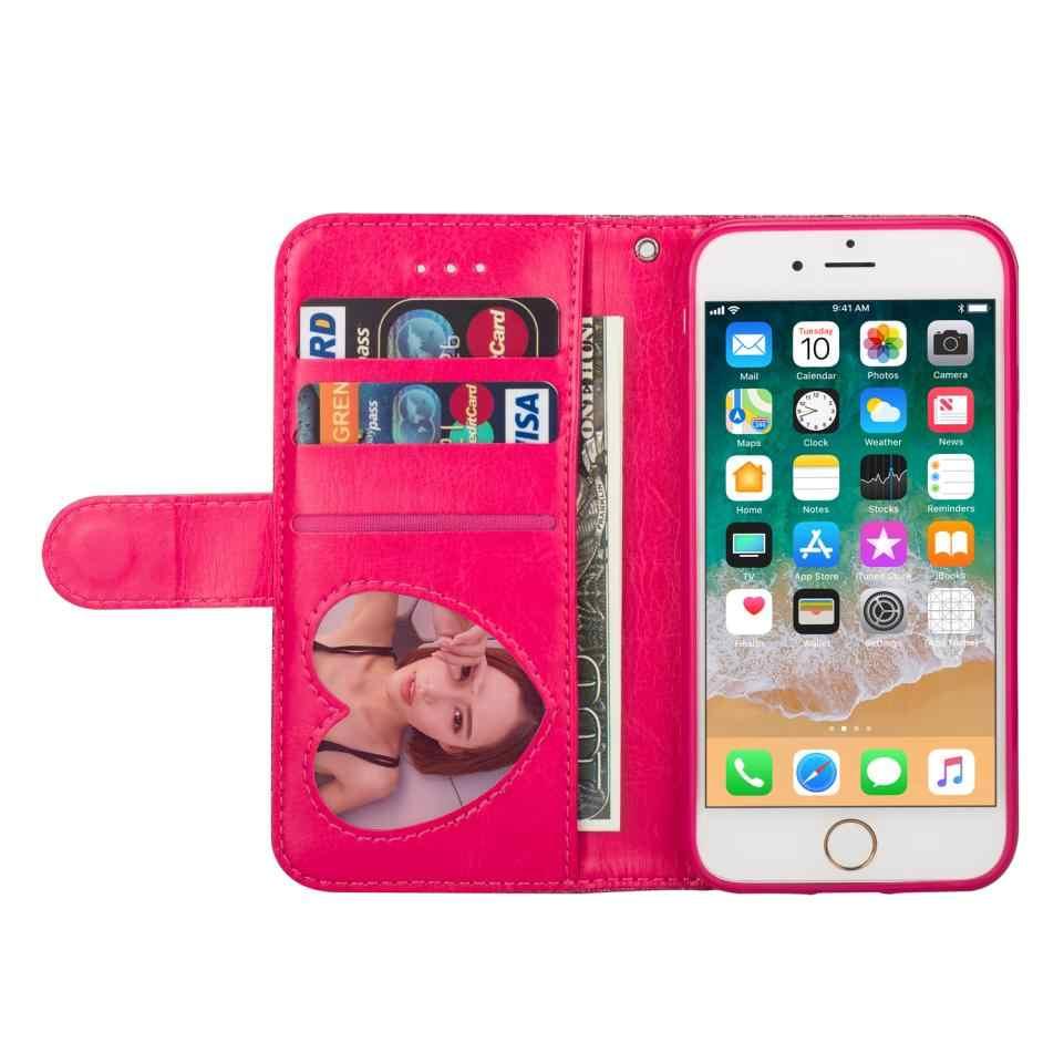 لسامسونج غالاكسي S10 5 جرام S10e نوت 10 S9 S8 زائد S7 S6 حافة الفاخرة بريق الحبل سستة حقيبة التخزين حافظة جلدية غطاء الهاتف